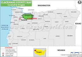 oregon county map clackamas county map oregon