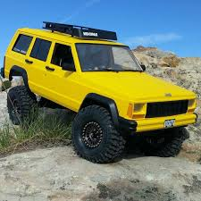 first jeep cherokee team raffee co axial scx10 cherokee xj hard plastic body kit 1