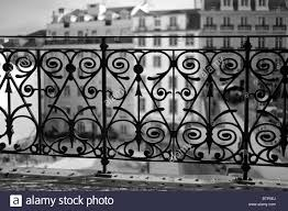 wrought iron railings lisbon portugal stock photo royalty free