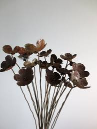 metal flowers rustic bouquet of metal flowers for your wedding