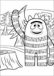 free yo gabba gabba coloring pages printable coloring pages