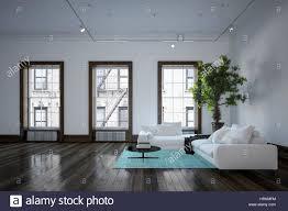minimalist modern urban living room interior with black and white