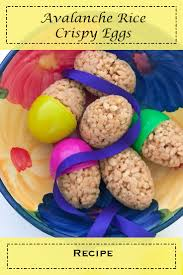 avalanche rice crispy eggs great kids activity for the