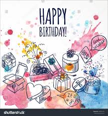 Doodle Birthday Card Happy Birthday Card Doodle Hand Drawn Stock Vector 287849150
