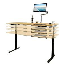 Adjustable Sit Stand Desk by Everest Electric Height Adjustable Sit Stand Desk With Anti