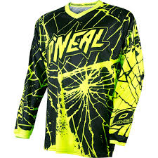 kids motocross gear combo o u0027neal element enigma hi viz motocross dirtbike gear 2017