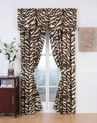 Cheetah Sheer Curtains by Brown Zebra Print Window Curtains Http Realtag Info