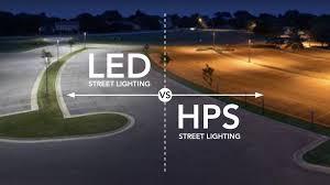 Led Light Bulbs Vs Energy Saving by Lux Led Vs Hps Street Lighting