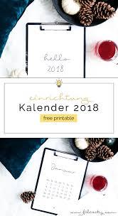 Kalender 2018 Free Free Printable Minimalistischer Kalender Für 2018 Filizity