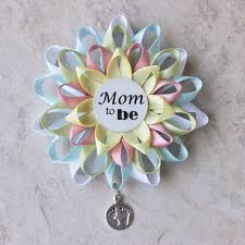 mom to be pin mom to be corsage gender neutral mommy to be
