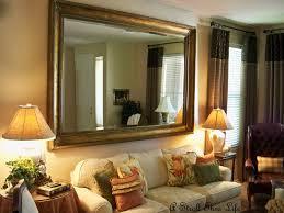 living room mirror interior design