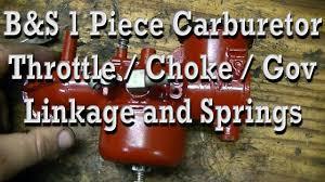 how throttle choke governor linkage u0026 spring is setup on