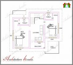 three bedroom house plans uncategorized 3 bedroom kerala house plan stupendous in