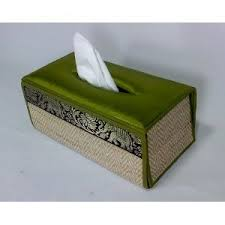 grand deluxe thai tissue box cover green silk for your