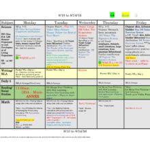 6th sixth grade common core weekly lesson plan template w drop