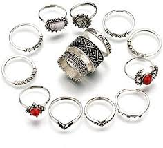 finger rings pictures images Shining diva stylish party wear 14 pcs midi finger rings alloy jpeg