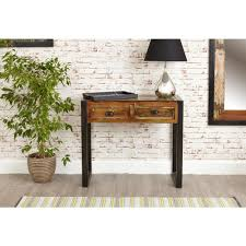 industrial console table with drawers industrial reclaimed wood console entryway table rustic furniture