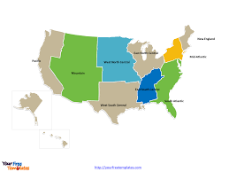 Blank Map Of Virginia by Free Usa Region Powerpoint Map Free Powerpoint Templates