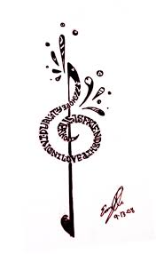 treble clef tattoo designs