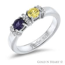 mothers rings with 2 stones sterling silver rings gold n heart direct