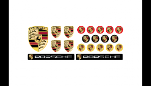 porsche logo png domed emblems big set