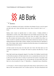 a2 bureau laon general banking and credit management of ab bank ltd by md papon