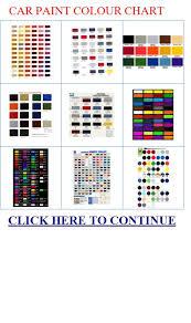 car paint colour chart car paint colour chart