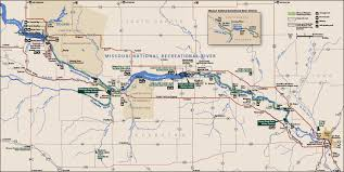 Map South Dakota Missouri National Recreation River South Dakota National Park