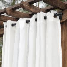 amazon com dfohome cream extra wide outdoor curtain with nickel
