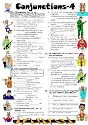 english worksheets conjunctions worksheets page 6