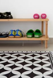 free shipping tiles pattern decorative pvc vinyl mat linoleum rug