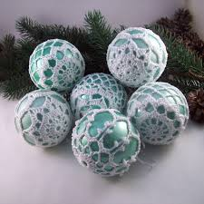 duck egg white baubles tree decorations