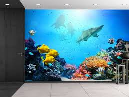 Large Wall Murals Wallpaper by Wall26 Large Wall Mural Underwater Scene With Coral Reef