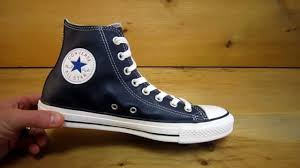 converse all stars chuck taylor high leather navy youtube