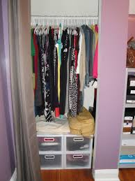 astounding design of the small closet with white shelves and grey
