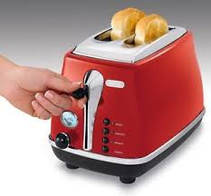 Bread Toaster Delonghi Bread Toaster Stainless Steel Bagel Crumpet Muffin Loaf