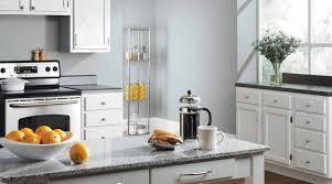kitchen gray cabinet paint yellow countertops black and white
