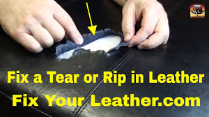 bycast or bonded leather repair large tear in seat cushion youtube