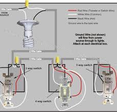astounding wiring lighting fixtures way switch diagram power