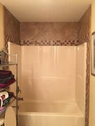 Double Wide Remodel Ideas by Tile Around Fiberglass Shower Tub Bathroom Pinterest