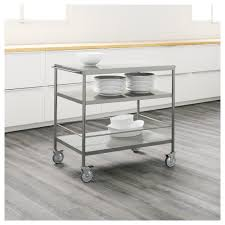 kitchen trolleys and islands flytta kitchen trolley stainless steel 98x57 cm ikea