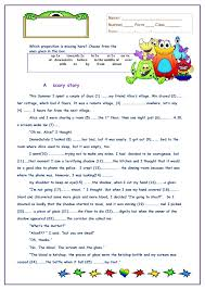 a scary story worksheet collective nouns pinterest scary