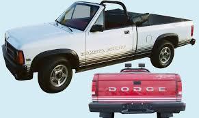 dodge dakota sport decals graphix 1988 89 dodge dakota sport truck decal kit
