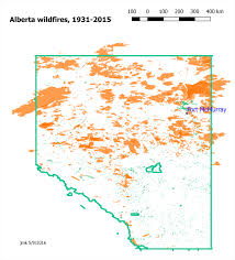 Map Of Fort Mcmurray Alberta Wildfires Record Of The Last 85 Years
