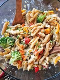 pasta salad mediterranean hummus pasta salad