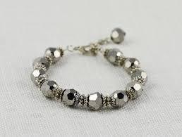 designer jewellery australia silver beaded bracelet by australian designer