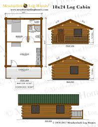 18x24 log cabin meadowlark log homes