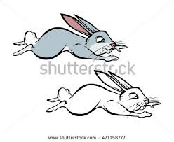 hopping bunny bunny hop stock images royalty free images vectors