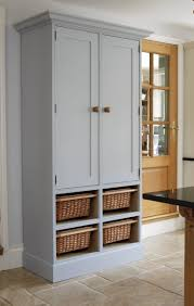 kitchen stand alone kitchen pantry cabinet with double doors and