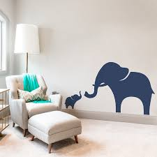 and baby elephant wall decal